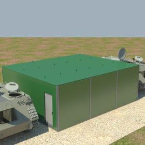 前線部用の要塞化、移動式、万能、多層コンテナです。