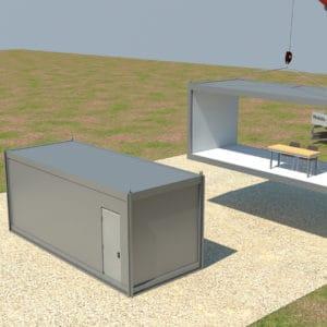 内部壁のないコンテナ – スペースが拡大