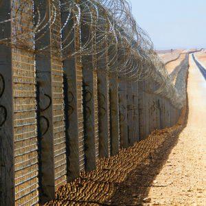 イスラエル-エジプト国境沿いフェンス