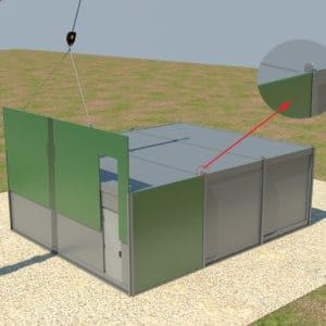 強化壁設置に独自スロットシステムが使用される