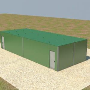 独自スロットシステムにより細穴挿入された防御壁と強化ルーフ